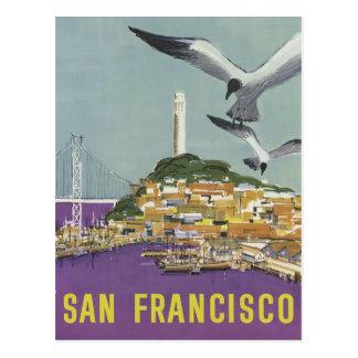 San Francisco USA vintage travel postcard