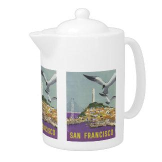 San Francisco USA Vintage Travel teapot
