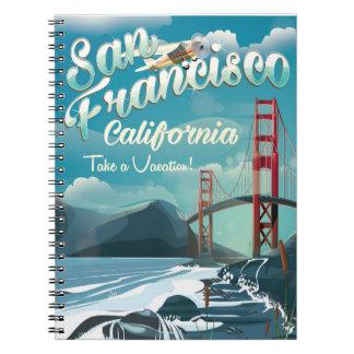 San Francisco Vacation travel poster Notebook