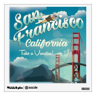 San Francisco Vacation travel poster Wall Decal
