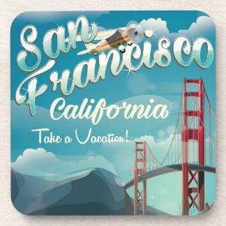 San Francisco Vacation vintage travel poster Coaster