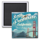 San Francisco Vacation vintage travel poster Magnet