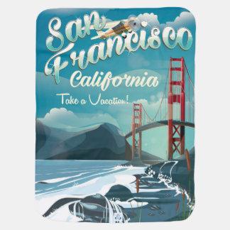 San Francisco Vacation vintage travel poster Stroller Blanket