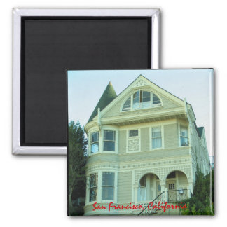 San Francisco Victorian House Magnet