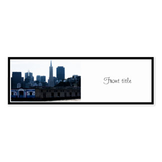 San Francisco View from the Bay Double-Sided Mini Business Cards (Pack Of 20)