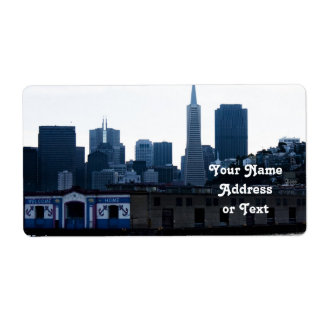 San Francisco View from the Bay Custom Shipping Labels