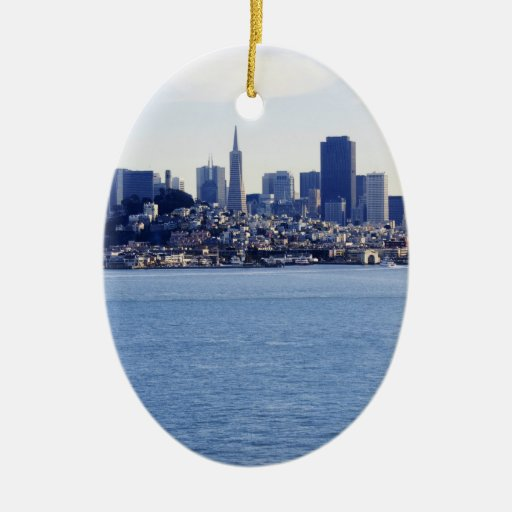 San Francisco View From the Bay Christmas Tree Ornament