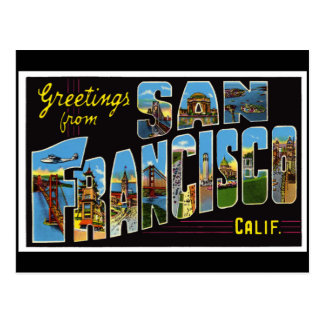 San Francisco Vintage Card