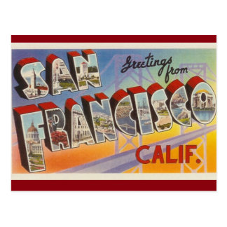 San Francisco Vintage Postcard