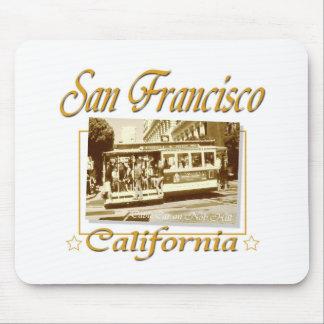 San Francisco Vintage Retro Design Mouse Pad