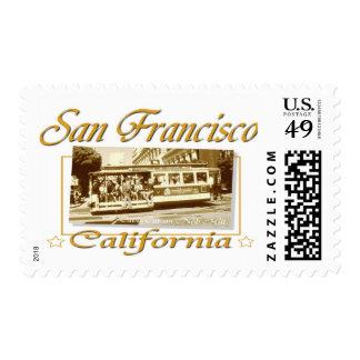 San Francisco Vintage Retro Design Postage Stamps