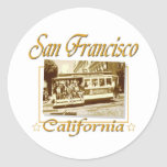 San Francisco Vintage Retro Design Stickers