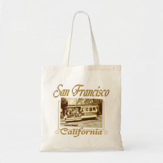 San Francisco Vintage Retro Design Tote Bag