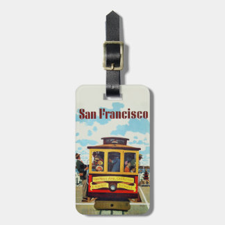 San Francisco Vintage Travel luggage tag