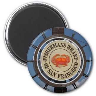 San Francisco Warf 2 Inch Round Magnet