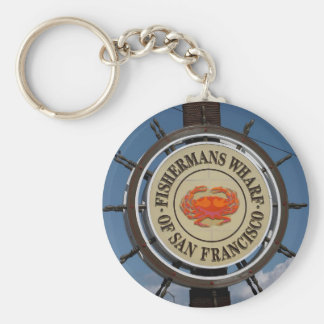 San Francisco Warf Basic Round Button Keychain