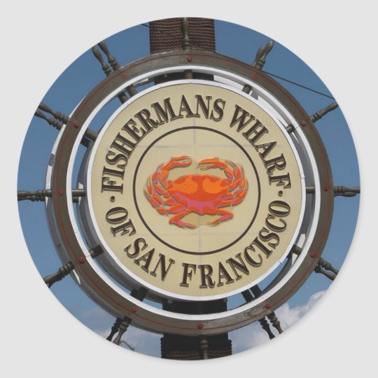San Francisco Warf Classic Round Sticker
