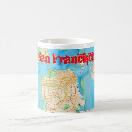 San Francisco Watercolor Map Coffee Mug