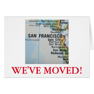 San Francisco We've Moved address announcement