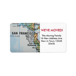 San Francisco We've Moved label