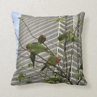 San Francisco Wild Parrots Throw Pillow