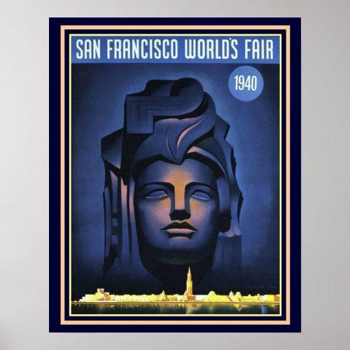 San Francisco World's Fair 1940 Print -16 x 20