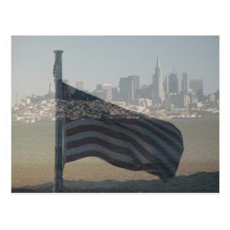 San Francisco y bandera de los E.E.U.U. Postal
