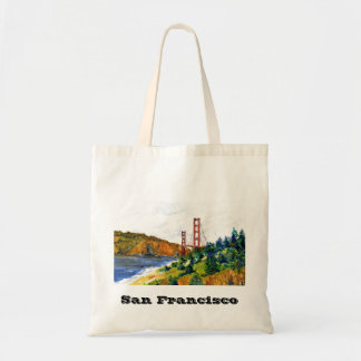 San Francisco y puente Golden Gate hermoso Bolsa Tela Barata