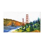San Francisco y puente Golden Gate hermoso Lona Envuelta Para Galerias