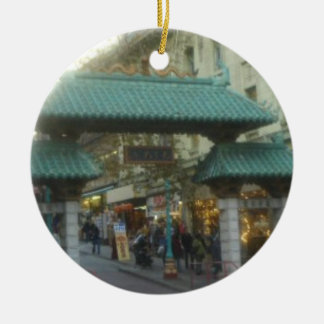 San Francisco's Chinatown Ceramic Ornament