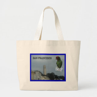 San Francisco's Coit Tower Large Tote Bag