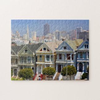 San Francisco's Famous Painted Ladies Jigsaw Puzzle