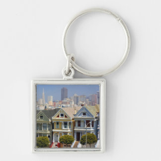 San Francisco's Famous Painted Ladies Keychain