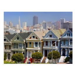 San Francisco's Famous Painted Ladies Postcard
