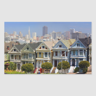 San Francisco's Famous Painted Ladies Rectangle Sticker
