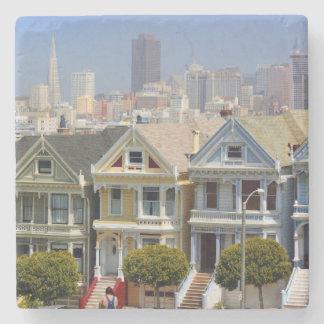 San Francisco's Famous Painted Ladies Stone Coaster