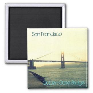 San Francisco's Golden Gate Bridge 2 Inch Square Magnet