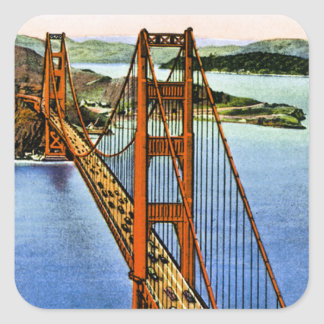 San Francisco's Golden Gate Bridge Square Sticker