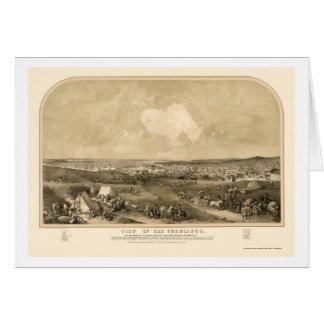 San Francsico, CA Panoramic Map - 1851 Card
