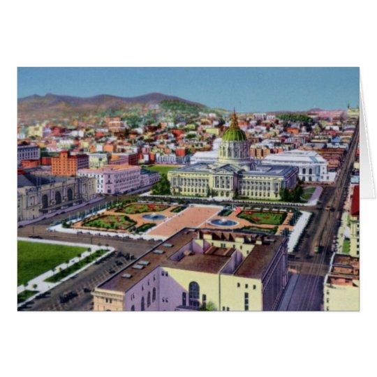 San Francsico California Civic Center Card