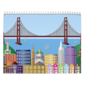 San Franicisco City Landmarks Calendar