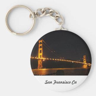 San Fransisco Golden Gate Bridge Basic Round Button Keychain