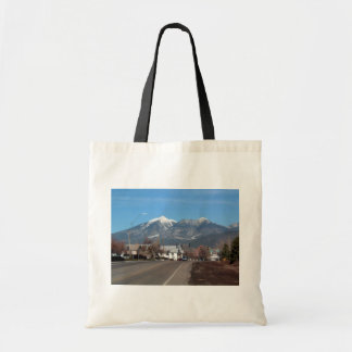San Fransisco Mountains Looking Across Flagstaff Tote Bags