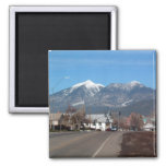 San Fransisco Mountains Looking Across Flagstaff Refrigerator Magnets