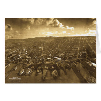 San Fransisco Panorama after 1906 Earthquake Card