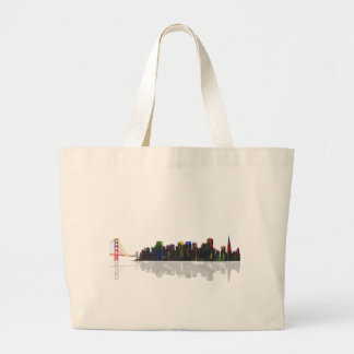 San Fransisco Skyline Large Tote Bag