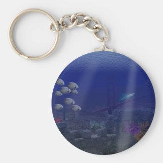 San Fransisco Underwater Basic Round Button Keychain