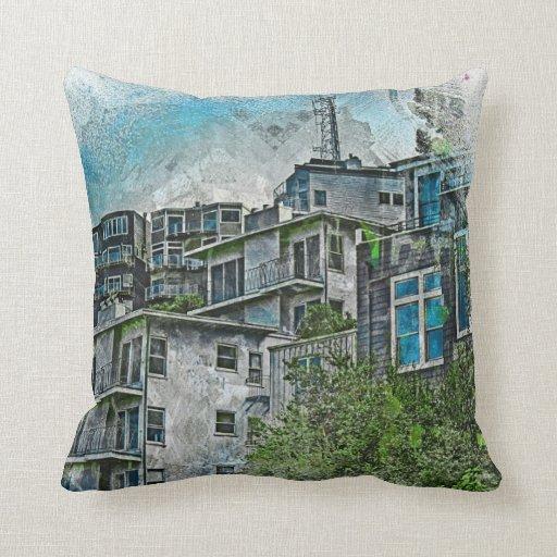 San Futurisco TwinPeaks favelas 2020 Throw Pillows