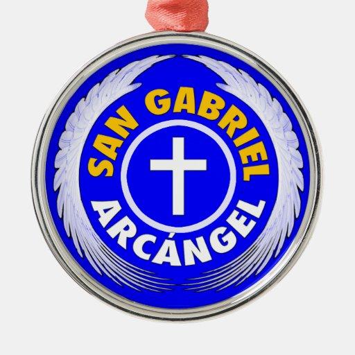 San Gabriel Arcangel Adorno Navideño Redondo De Metal