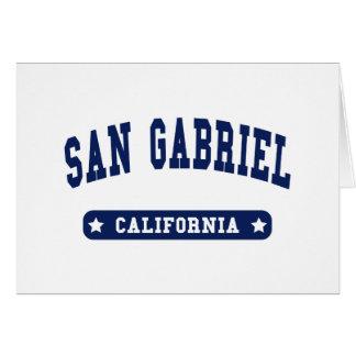 San Gabriel California College Style tee shirts Card